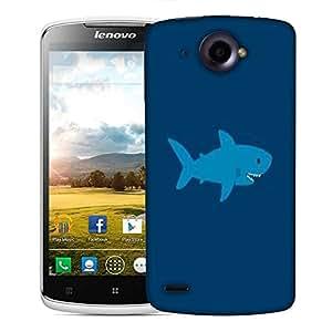 Snoogg Blue Shark Designer Protective Phone Back Case Cover For Lenovo S920