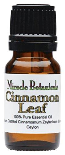 Miracle Botanicals Ceylon Cinnamon Leaf Essential Oil - 100% Pure Cinnamomum Zeylanicum Blume - Therapeutic Grade - 10ml