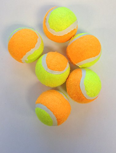 Mini Tennis Balls for Dogs- Yellow and Orange - 2 inch - 6 Pack (Mini Tennis Balls compare prices)