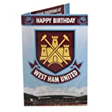 West Ham United FC Musical Birthday Card