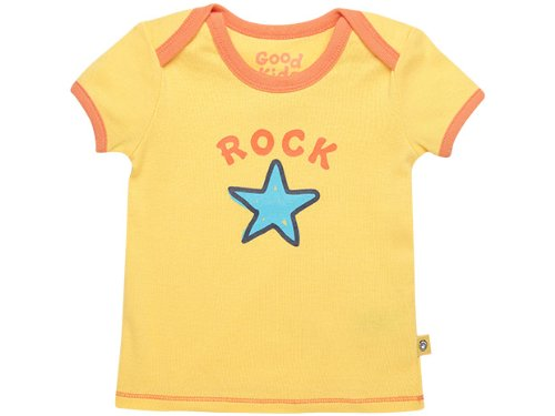 Life Is Good Baby Rock Star Ringer Tee, Sunny Yellow, 36 front-640802