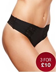 No VPL Low Rise Overlaid Lace Thong