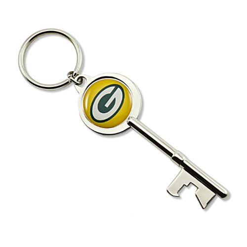 NFL Green Bay Packers Skeleton Key Bottle Opener Key Ring (Green Bay Keychain Bottle Opener compare prices)