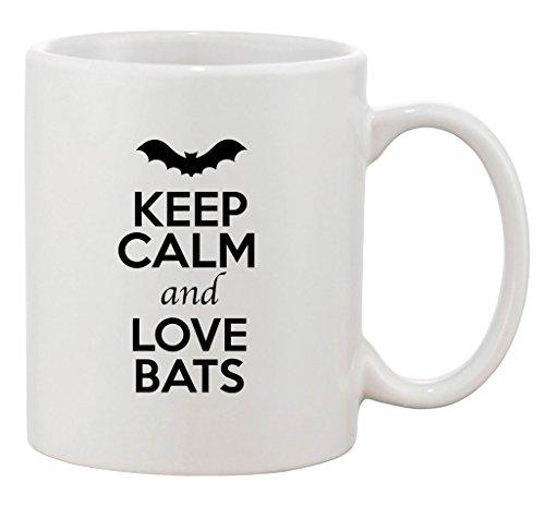 Keep Calm And Love Bats Animal Lover Ceramic White Coffee 11 Oz Mug