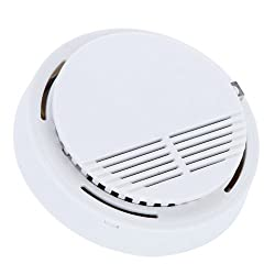 SODIAL(R) Standalone Photoelectric Smoke Alarm Fire Smoke Detector Sensor Home Security System for Home Kitchen 9V by SODIAL(R)