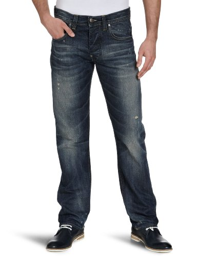 G-Star Men's Attacc Straigt 50566 Straight Leg Jeans Blue (Med Aged Destry 3142) 29/30