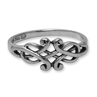 Celtic Filigree Sterling Silver Ring