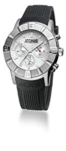 Just Cavalli Unisex Watch R7271661015 In Collection Crystal with Chrono, Silver Dial and Strap