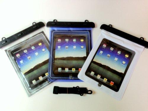 iPad用  防水・防塵ケースネックストラップ付属なので海やレジャーなどでお使えいただけます! (クリア)