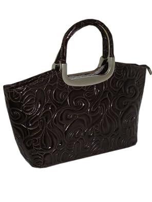 Ausgefallene Handtaschen Italienische Leder Handtasche Braun In