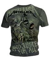 Metallica T-shirt Metallica - Justice Neon Allover