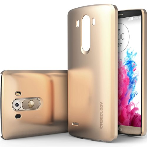 [Ultra Slim] Caseology Lg G3 [Copper Gold] [Armor Plate] Protective Hard Cover Snap-On Case [Made In Korea] (For Verizon, At&T Sprint, T-Mobile, Unlocked)