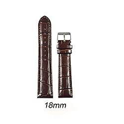 Like 18 mm Croco Leather Padded Watch Strap (Brown)