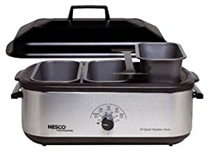 Metalware/Nesco 4908-12-40PR Buffet Serving Set for Nesco 18-Qt. Roasters, 5-Pcs.