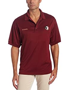 Columbia Mens Collegiate Perfect Cast Polo, FSU - Cabernet, Large by Columbia