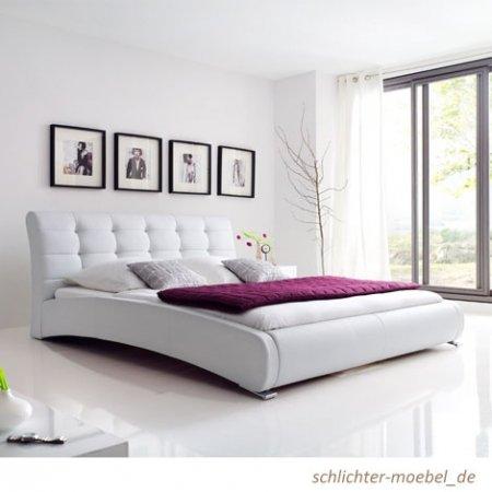 """Polsterbett """"Celine"""" 180x200cm Weiß"""