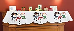Snowman Winter Christmas Mantel Scarf by Collections Etc