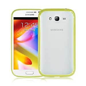 Trendz 2 in 1 Yellow Green TPU Bumper Matte Back Case Cover Skin For Samsung Galaxy Grand I9080 I9082