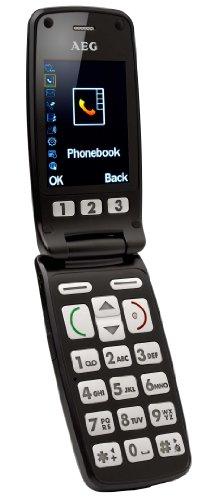 AEG VOXTEL M400 Großtasten Mobiltelefon inkl. Tischladestation schwarz