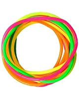 12 Neon Mixed Colour Party Favourite Gummy, Shag, Wristbands,