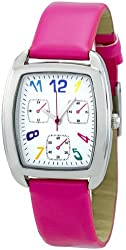 FMD White Dial Pink Faux Leather Ladies Watch ZRT8002K
