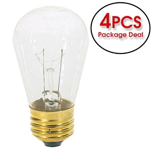 Satco S3965 11W 130V S14 Clear E26 Base Incandescent - 4 Bulbs /Pk