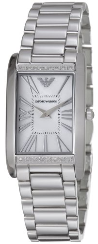 Emporio Armani Women's AR3169 Sportivo Stainless Steel Diamond Watch