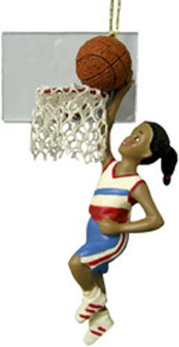 African American Girl Playing Basketball