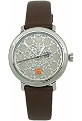 Bulova LadiesÕ Frank Lloyd Wright Leather Strap Watch, 96L211