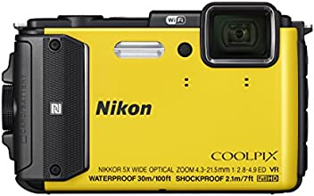 NIKON AW130 16.1Digital Camera with 3.0-Inch TFT LCD (Yellow)