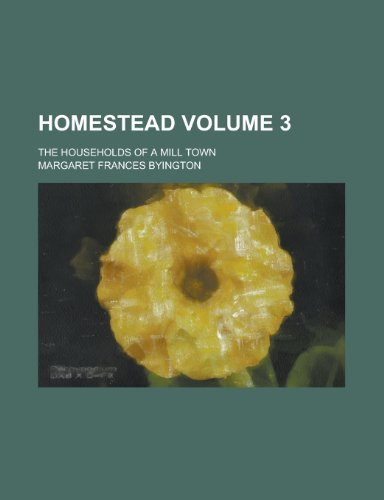 Homestead; the households of a mill town Volume 3