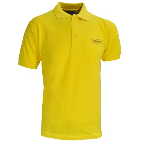 Mens Raiken Oval Print Casual Cotton Polo T-Shirt Tops Mens Size UK Yellow S