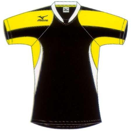 ミズノ(MIZUNO) プラクティスシャツ 64HM31109 ブラック×イエロー XO