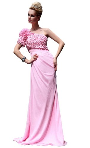 Chicirl Women's Formal Gown Short Party Bridemaid Evening Dress Pink Size 14
