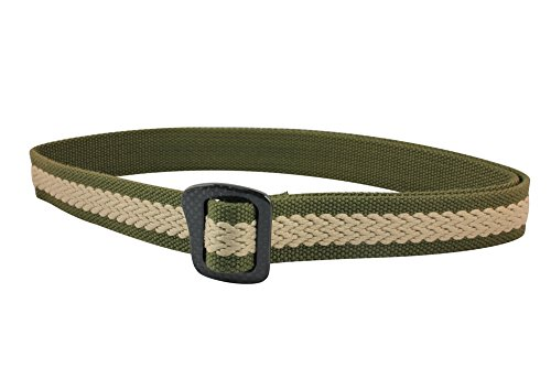 Bison Designs 30mm Web Carbonator Belt with 100-Percent Carbon Fiber Buckle (Olive, 42-Inch Maximum Waist/Large)
