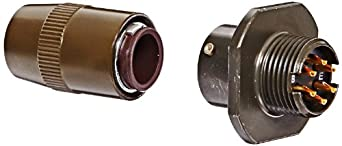 Amphenol Industrial PT01W-10-6P Circular Connector Pin, Clamp Assembly for Moisture Proofing Multi-Jacketed Cables, Bayonet Coupling, Solder Termination, Cable Connecting Plug, 10-6 Insert Arrangement, 10 Shell Size, 6 Contacts