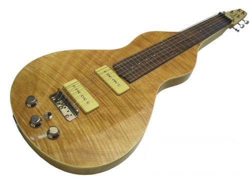 NEW CLEARWATER PRO LAP STEEL 2 - WEISSENBORN SHAPE LAPSTEEL GUITAR LEFT OR RIGHT HAND IN NATURAL FLAME MAPLE FINISH - SPECIAL OFFER