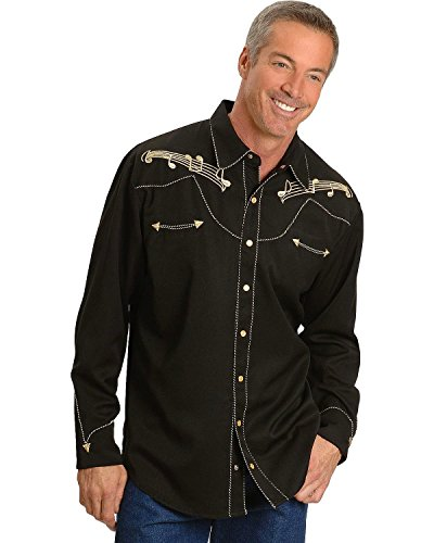 scully-mens-music-note-embroidered-retro-western-shirt-black-medium