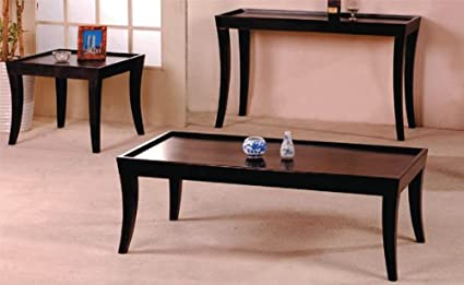 3-pc Pack Coffee / End Table Set and Sofa Table in Espresso Finish ADS40228,40228-sf
