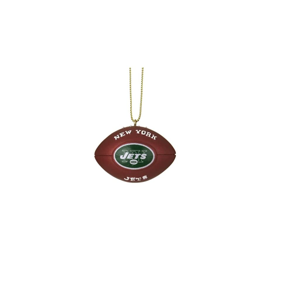 Pack of 4 NFL New York Jets Football Christmas Ornaments