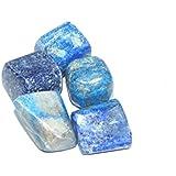 Urancia™ Beautiful Lapis Lazuli Certified Tumbled Stone 5pcs With Free Himalayan Quartz Crystal