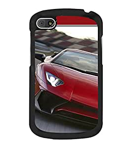 Luxury Red Car 2D Hard Polycarbonate Designer Back Case Cover for BlackBerry Q10