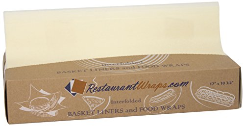 RestaurantWraps.com Interfolded Waxed Tissue, Basket Liner and Food Wrap, 12