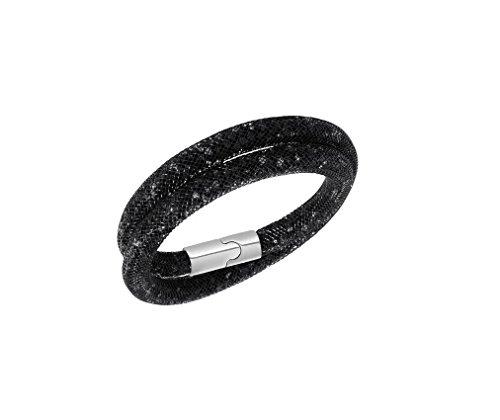 Designer Inspired Stardust-Bracciale Infinity, con chiusura magnetica in acciaio, base metal, colore: black, cod. 1