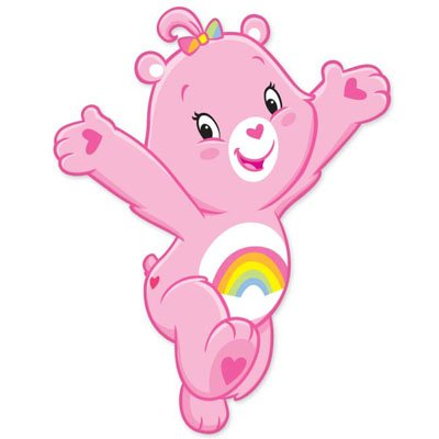 """Care Bears Cheer Bear Vynil Car Sticker 3"""" X 6"""" front-649375"""