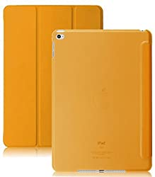 iPad Air 2 Case (iPad 6) - KHOMO DUAL Super Slim Orange Cover with with See Through Clear back and Smart Feature (Built-in magnet for sleep / wake feature) For Apple iPad Air 2 Tablet