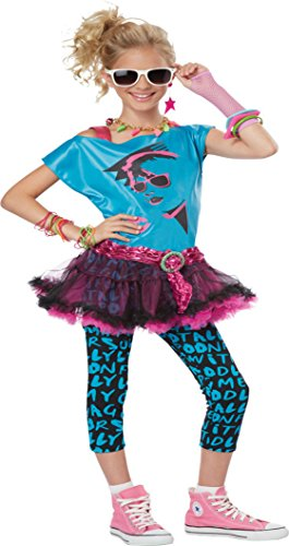 Girls 80S Valley Twn Kids Child Fancy Dress Party Halloween Costume