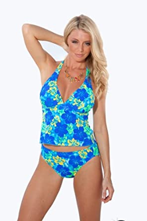 Serenity: Halter Babydoll Top by Blue Sky Swimwear. (top only)