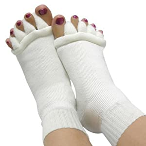 Comfy Toes Foot Alignment Socks ONE SIZE by Boolavard® TM