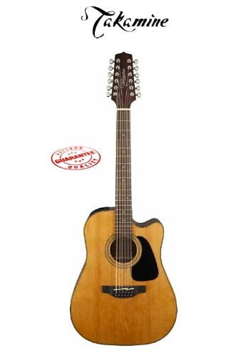 Takamine Dreadnaught Acoustic Electric 12 String Guitar Natural Gd30Ce-12Nat
